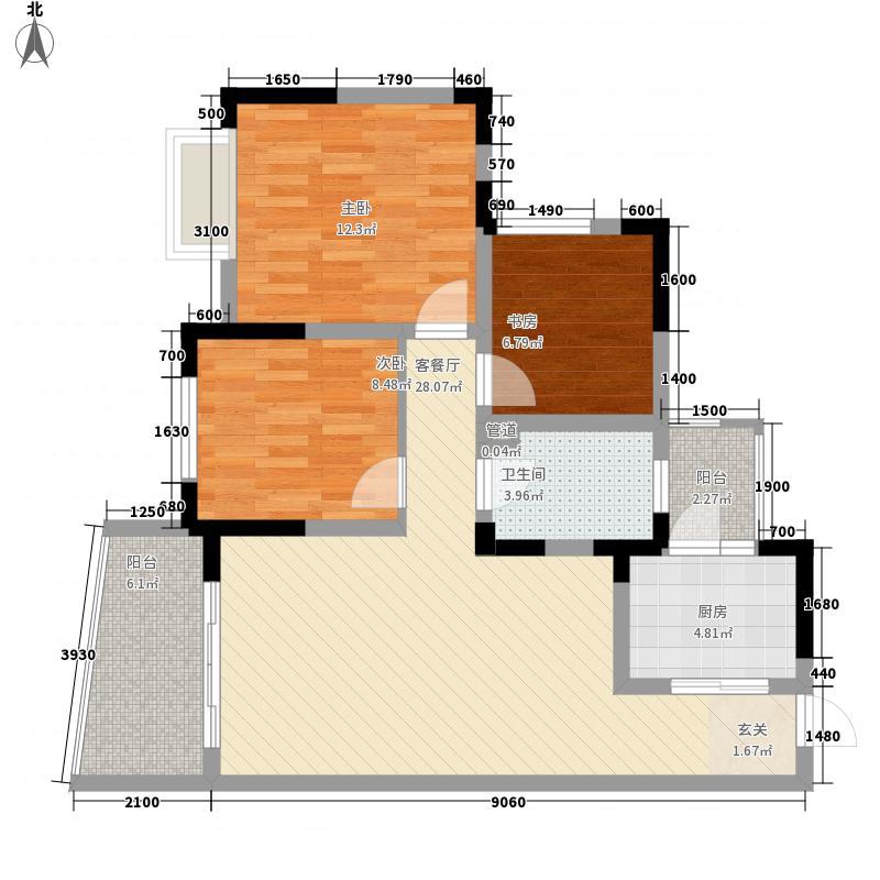 星宇花园二期怡悦苑户型3室