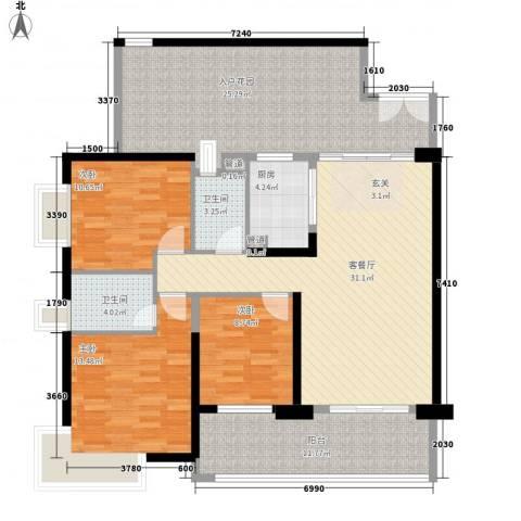 星际豪庭3室1厅2卫1厨127.00㎡户型图