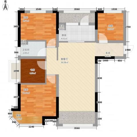 迁安碧桂园4室1厅1卫1厨72.88㎡户型图