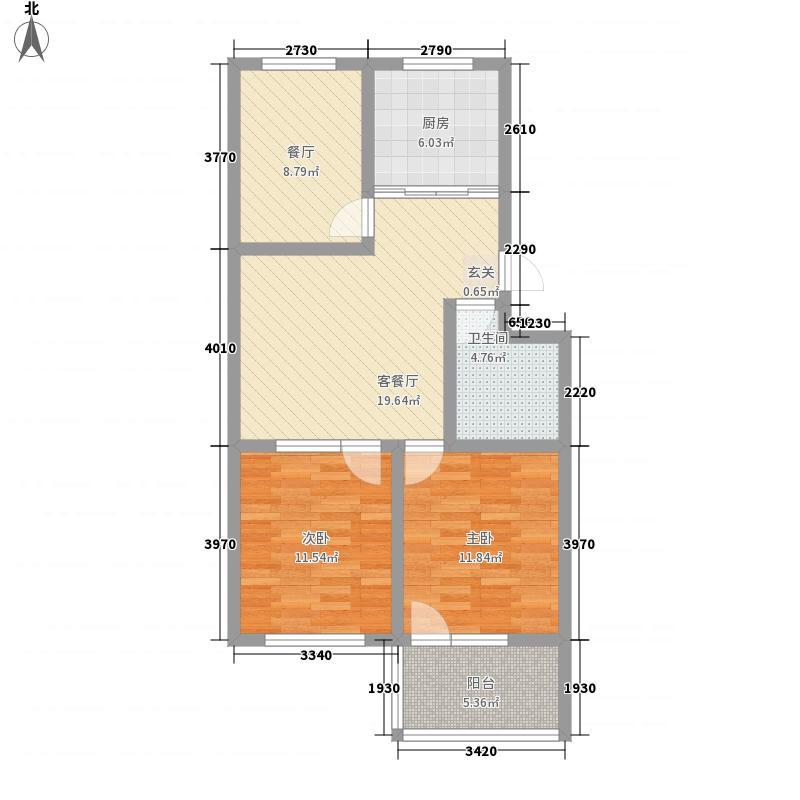 温泉公寓8.83㎡多层户型2室2厅1卫1厨