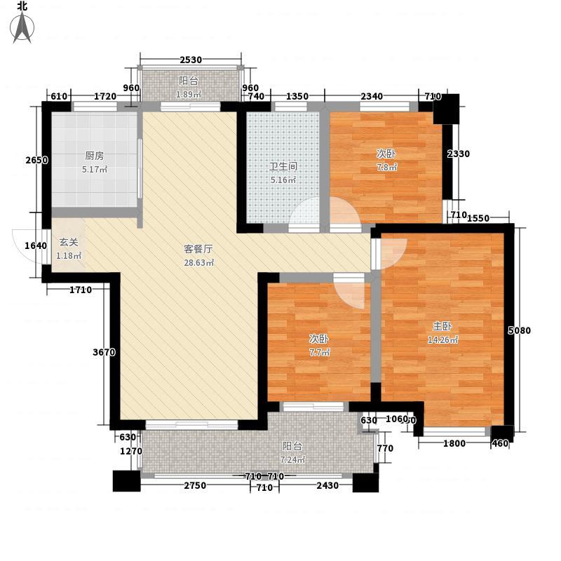 天鹅湖熙园113.00㎡天鹅湖熙园户型图7#、8#楼奢适3房B2户型3室2厅1卫户型3室2厅1卫