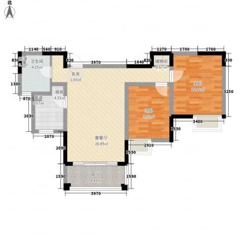 发展今日嘉园2室1厅1卫1厨94.00㎡户型图