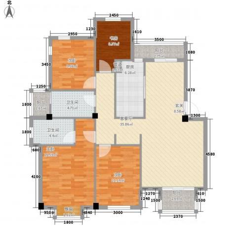 金丰阳光4室1厅2卫1厨144.00㎡户型图