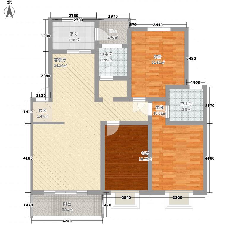 明珠小城12.00㎡户型3室