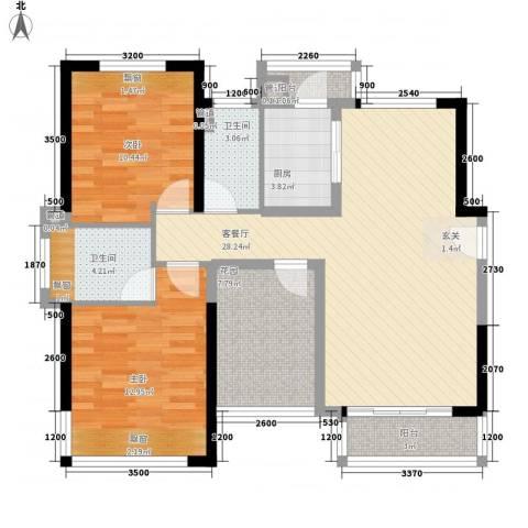 太东・明月湾2室1厅2卫1厨109.00㎡户型图