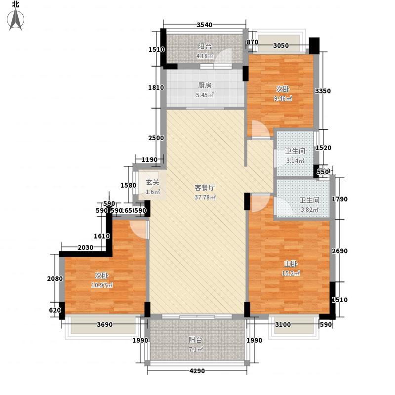 凯龙湾豪园123.21㎡19\\20栋02标准层户型