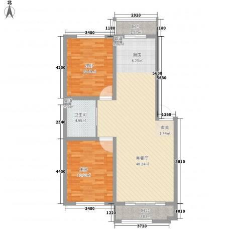 蓝调倾城2室1厅1卫0厨99.00㎡户型图