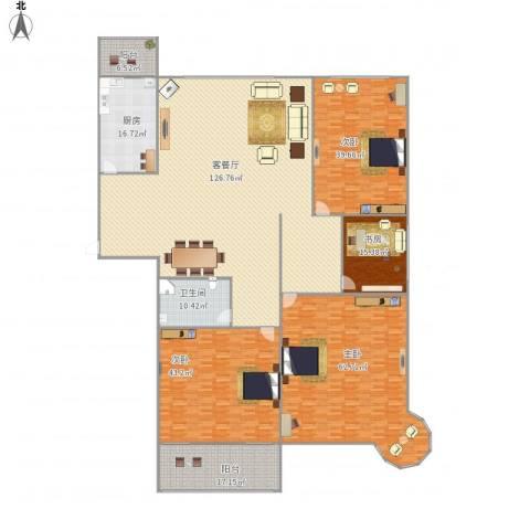 假日丽景4室1厅1卫1厨440.00㎡户型图