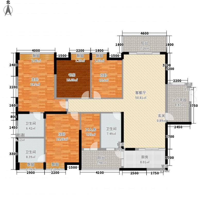 龙泉圣达菲二期E1-2栋标准层户型