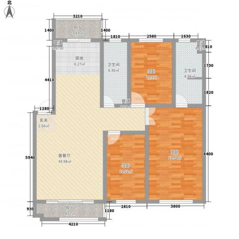 蓝调倾城3室1厅2卫0厨139.00㎡户型图