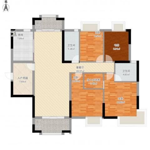高信向日葵4室1厅2卫1厨173.00㎡户型图