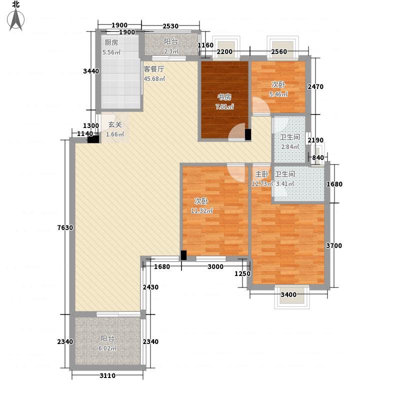 阳光城市花园三期143.00㎡阳光城市花园三期户型图D2a4室2厅2卫户型4室2厅2卫