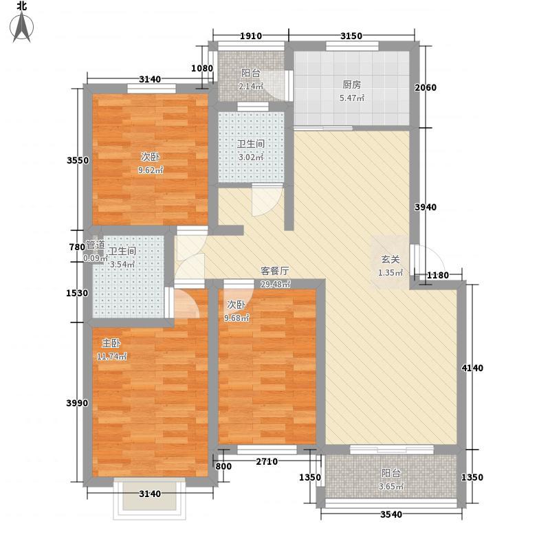 天泰奥园115.00㎡户型3室