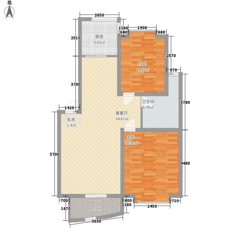天泰奥园112.00㎡户型3室