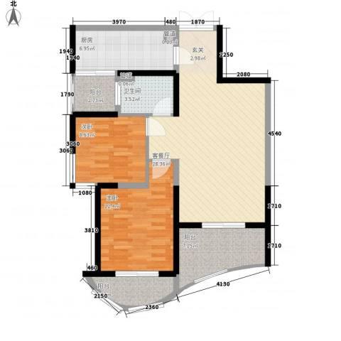森林海2室1厅1卫1厨90.00㎡户型图