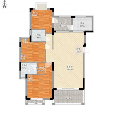 太阳湾3室1厅2卫1厨146.00㎡户型图