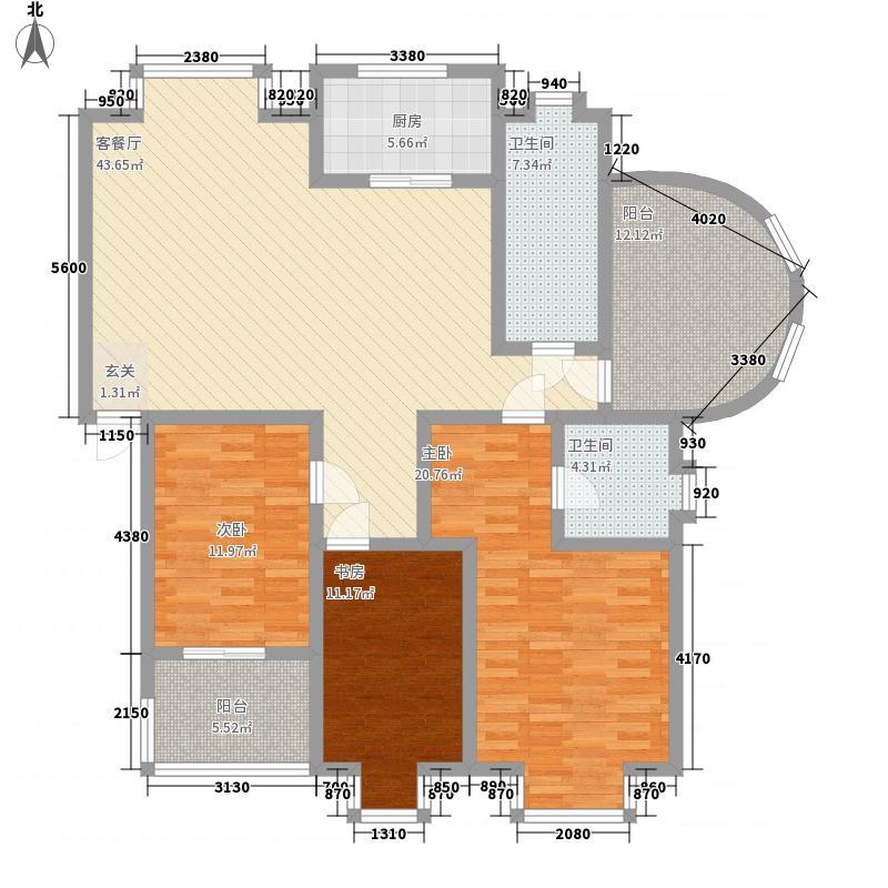 新希望澳园176.40㎡Q户型3室2厅2卫1厨