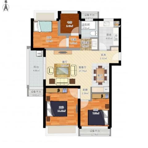 朗诗未来街区4室1厅1卫1厨106.00㎡户型图