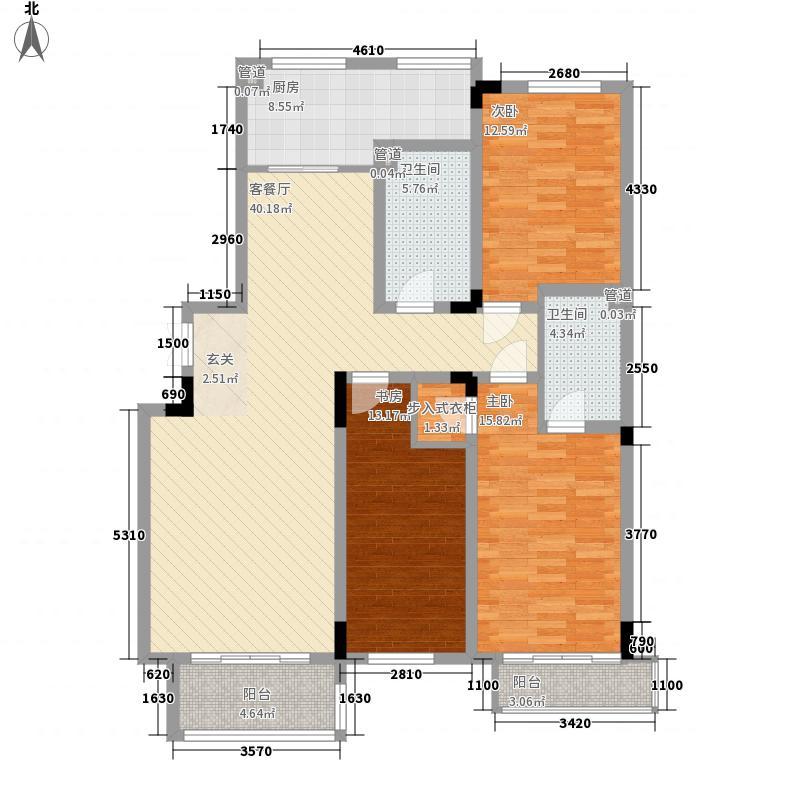 好景山庄146.00㎡三期36号楼A1户型3室2厅2卫1厨