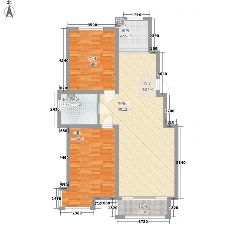 好景山庄116.37㎡四期30、31、32、33号楼06户型2室1厅1卫1厨