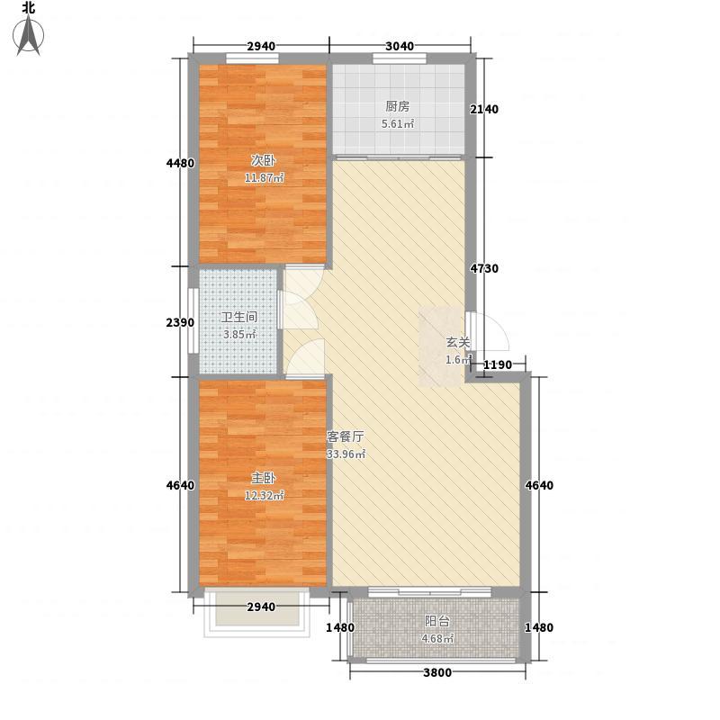 都市华庭33.00㎡户型1室