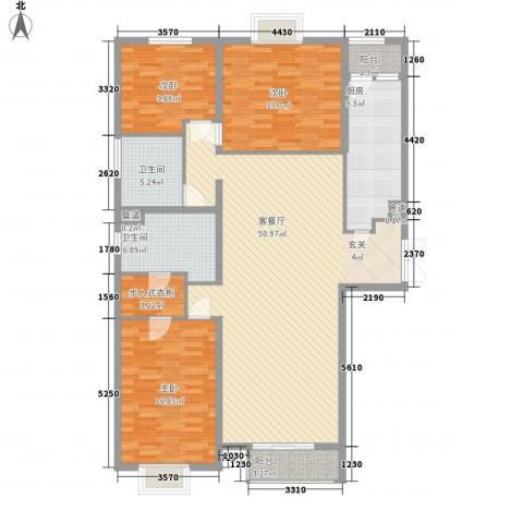国风上观3室1厅2卫1厨173.00㎡户型图