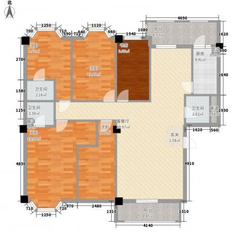 佳逸豪园5室1厅3卫1厨168.00㎡户型图