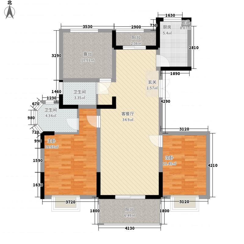 海纳国际123.00㎡海纳国际户型图J户型2室2厅2卫1厨户型2室2厅2卫1厨