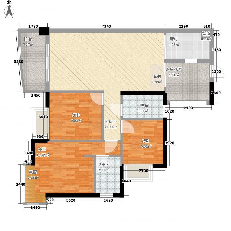 敦和公寓119.00㎡敦和公寓户型图3室2厅户型图3室2厅2卫1厨户型3室2厅2卫1厨