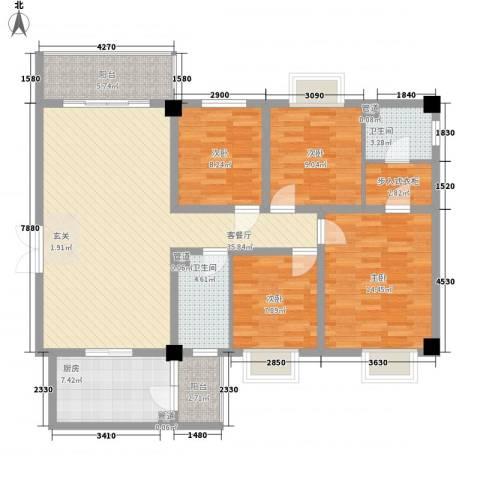 帝缘花园4室1厅2卫1厨150.00㎡户型图