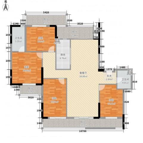 惠州雅居乐白鹭湖4室1厅2卫1厨212.00㎡户型图