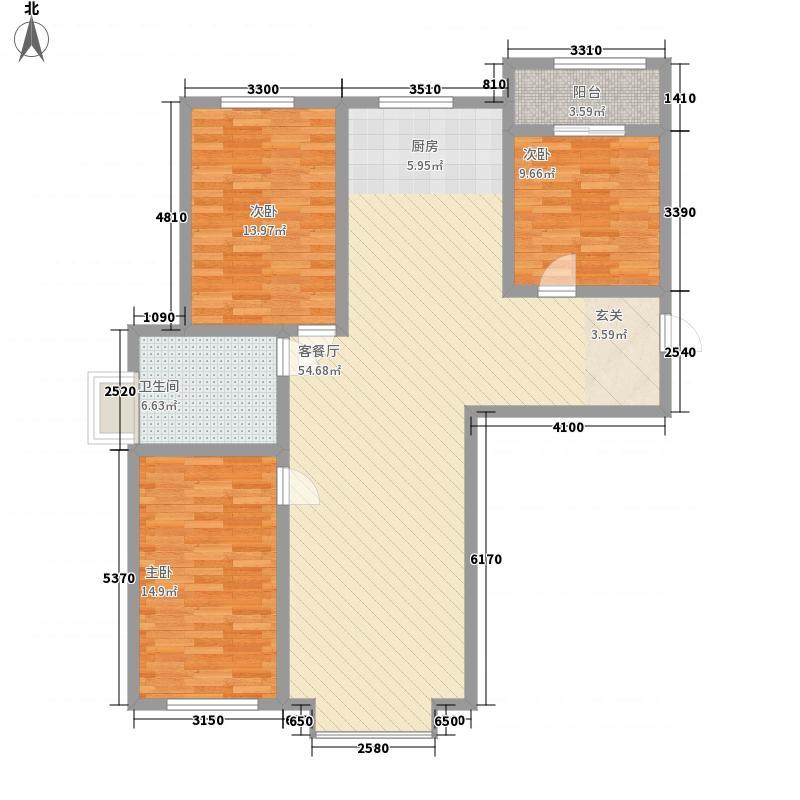 景怡花园3室2厅2户型3室2厅2卫1厨