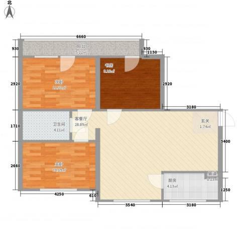 兴光A93室1厅1卫1厨73.06㎡户型图