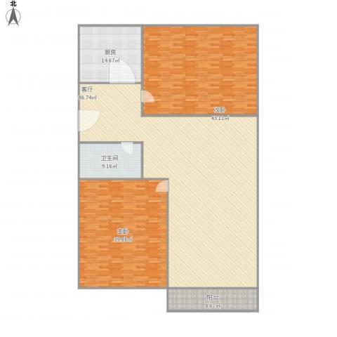 水天福苑2室1厅1卫1厨263.00㎡户型图