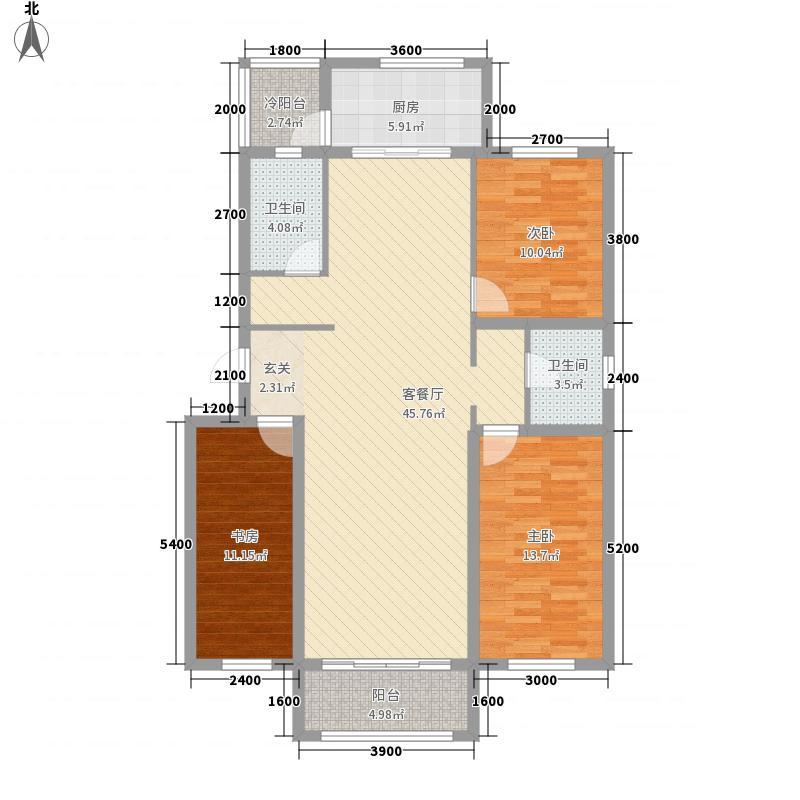 雅南高第128.00㎡31#楼标准层H户型
