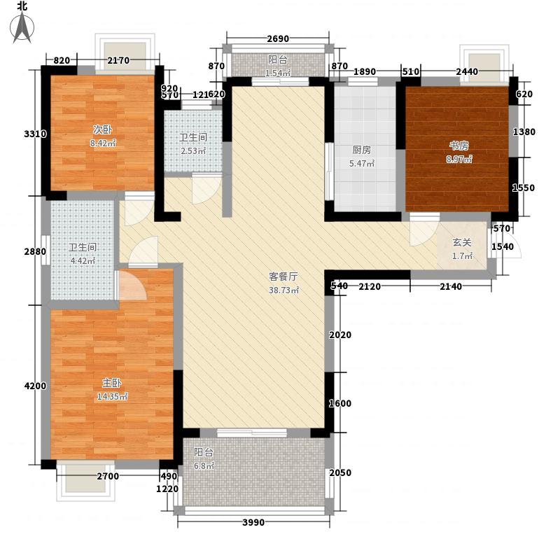 新华广场132.00㎡A2户型3室2厅2卫