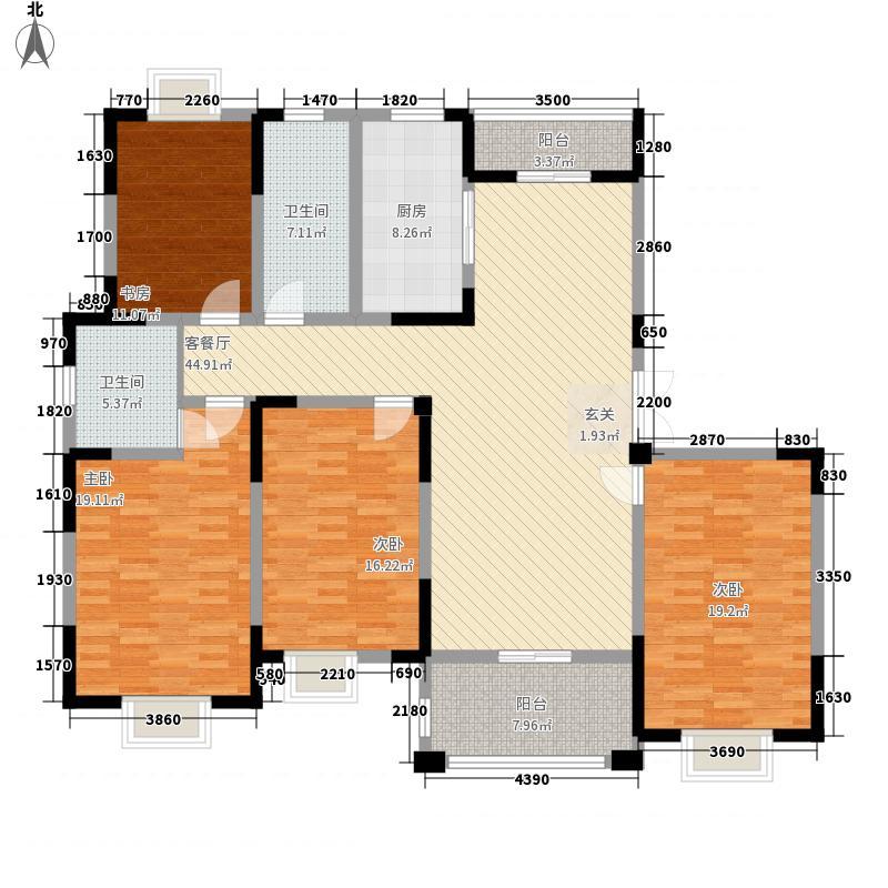 天奇・馨城23.15㎡6#A户型4室2厅2卫1厨