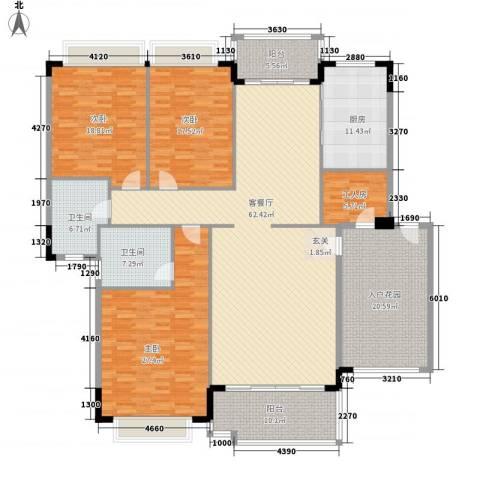 群众社区3室1厅2卫1厨265.00㎡户型图