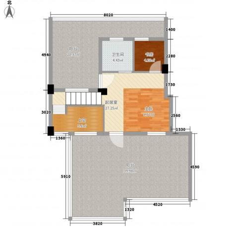 君悦龙庭1室0厅1卫0厨135.00㎡户型图