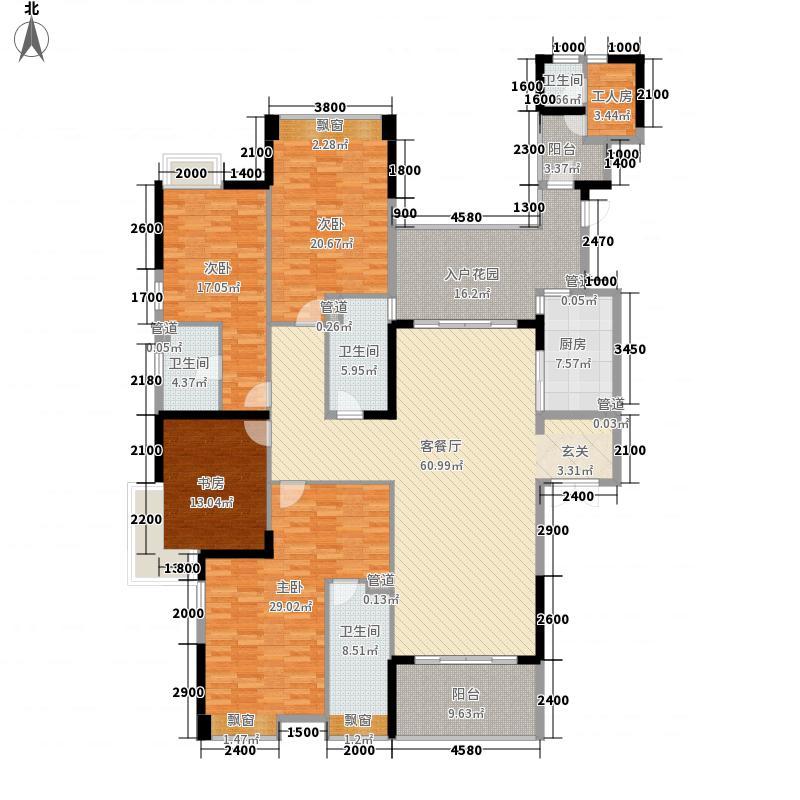 龙泉圣达菲4室1厅4卫1厨281.00㎡户型图