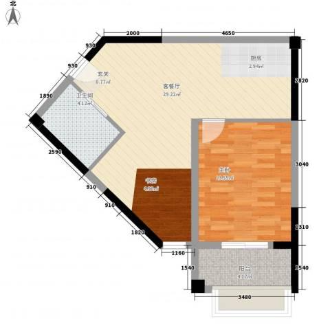 星汇半岛1室1厅1卫0厨72.00㎡户型图