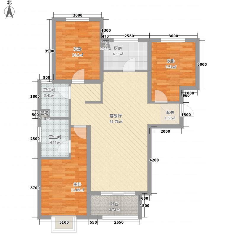 琥珀潭村户型3室