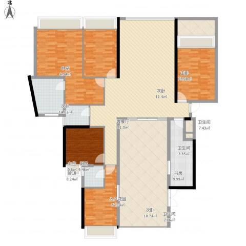 国际邮轮城一期5室1厅3卫1厨263.00㎡户型图