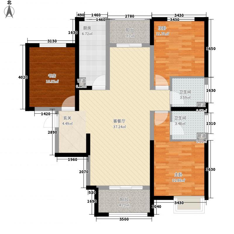 西安三迪枫丹3号楼E1户型