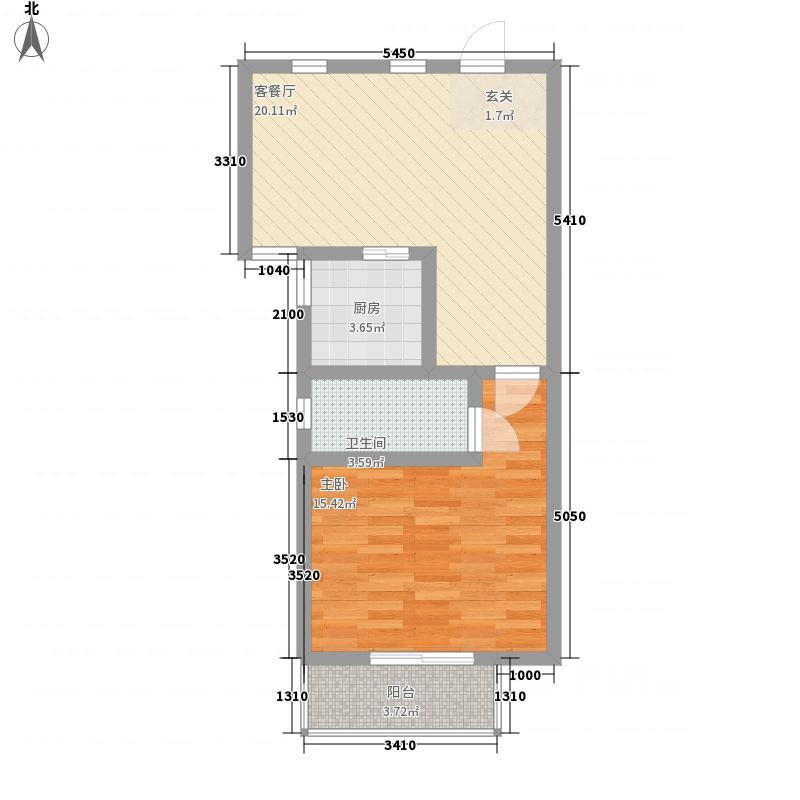 金色梧桐67.00㎡户型1室