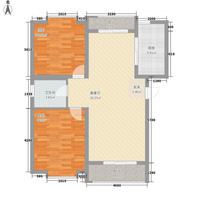 金杨路750弄85.00㎡小区户型2室
