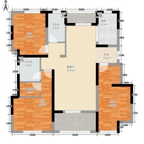 海峡・湖尚城3室1厅2卫1厨101.56㎡户型图