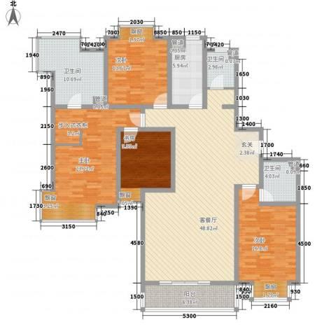 赛斯家园4室1厅3卫1厨204.00㎡户型图