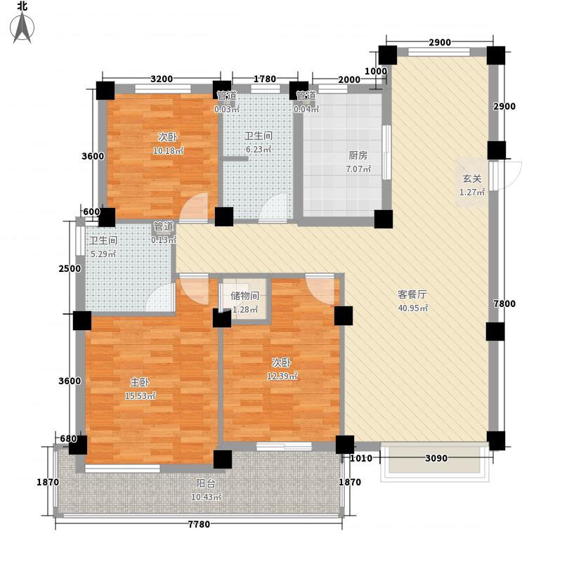 生产资料11.00㎡小区户型3室