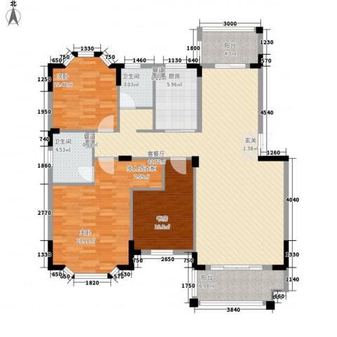 汽车西站四合院3室1厅2卫1厨152.00㎡户型图